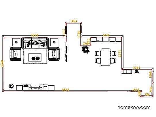 平面布置图乐维斯系列客餐厅G10664