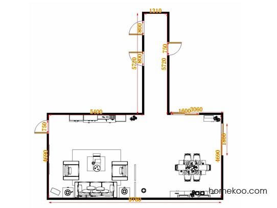平面布置图德丽卡系列客餐厅G10689