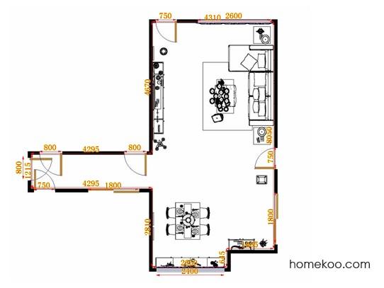 平面布置图贝斯特系列客餐厅G10693
