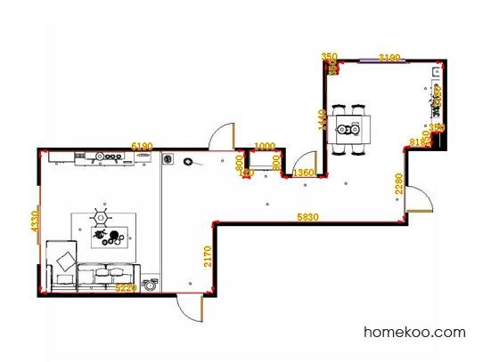 平面布置图贝斯特系列客餐厅G10695