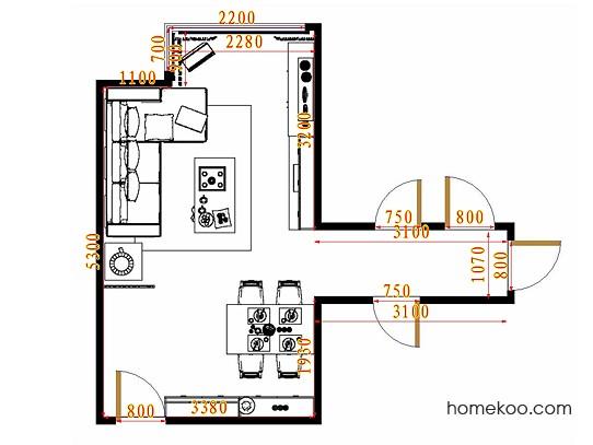 平面布置图贝斯特系列客餐厅G10698