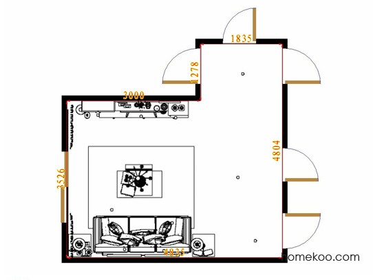 平面布置图乐维斯系列客餐厅G10715
