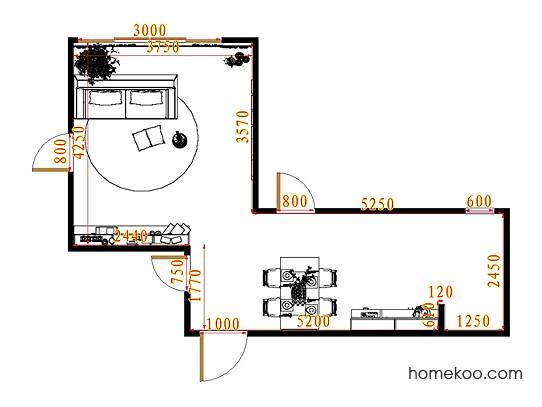 平面布置图斯玛特系列客餐厅G10718