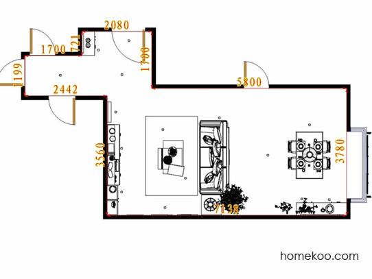 平面布置图格瑞丝系列客餐厅G10730