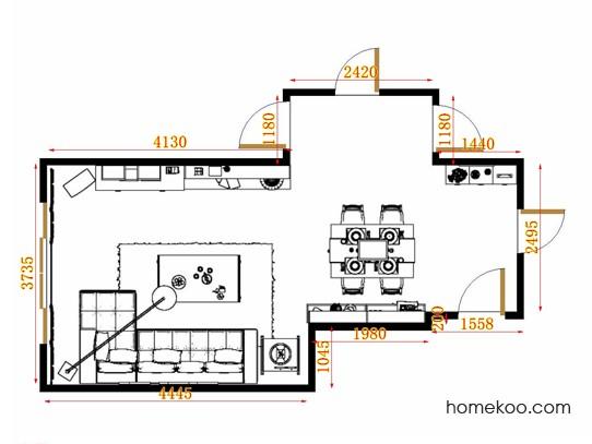 平面布置图乐维斯系列客餐厅G10746
