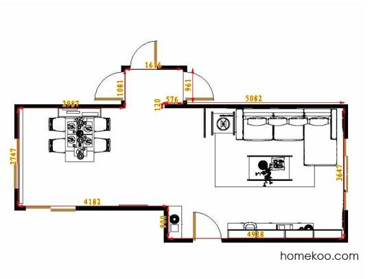 平面布置图柏俪兹系列客餐厅G10751
