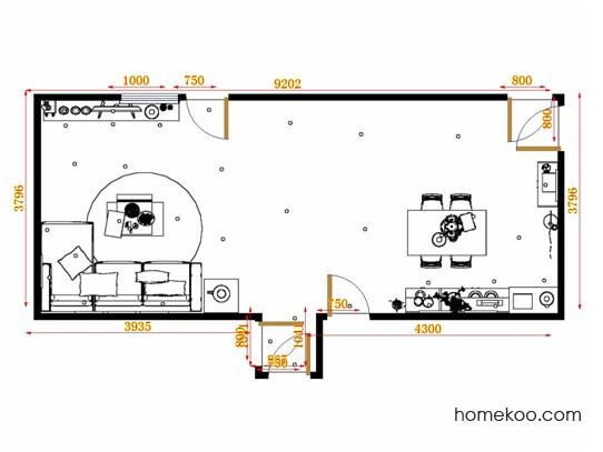 平面布置图贝斯特系列客餐厅G10766