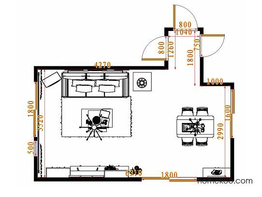 平面布置图德丽卡系列客餐厅G10774