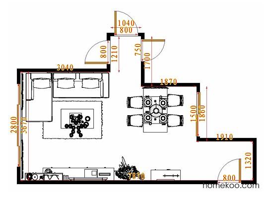 平面布置图贝斯特系列客餐厅G10775