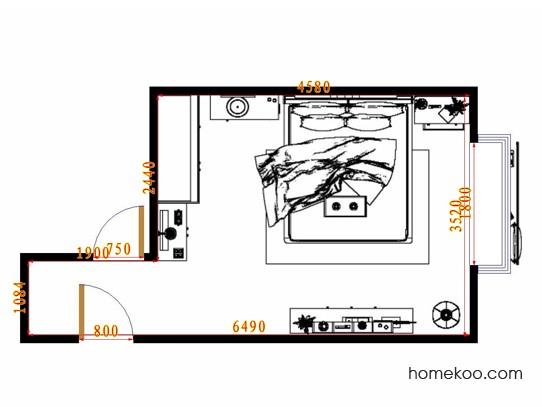 平面布置图格瑞丝系列卧房A11728