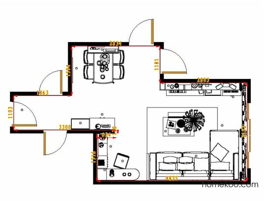 平面布置图格瑞丝系列客餐厅G10815