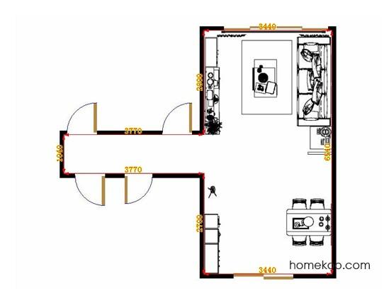 平面布置图乐维斯系列客餐厅G10836