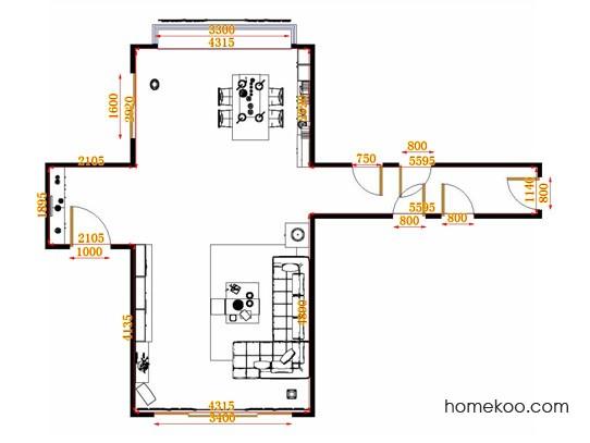 平面布置图斯玛特系列客餐厅G10837