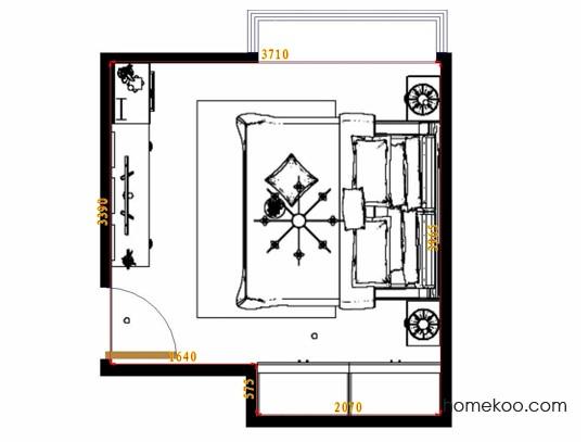 平面布置图斯玛特系列卧房A11771