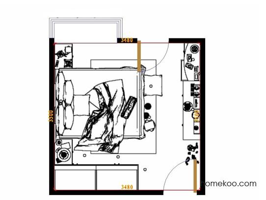 平面布置图乐维斯系列卧房A11773