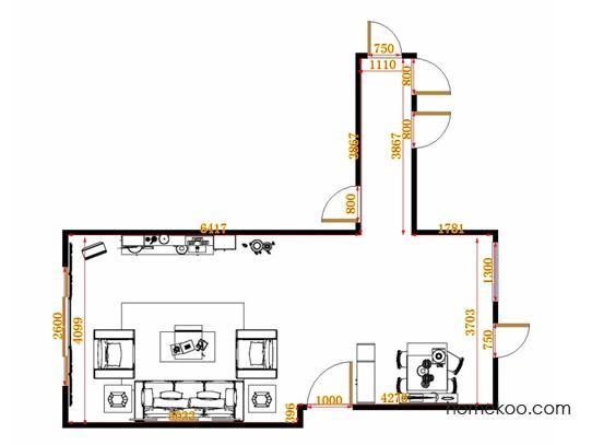 平面布置图斯玛特系列客餐厅G10866