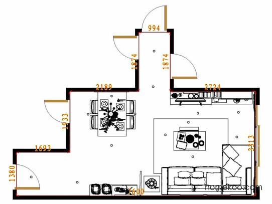 平面布置图德丽卡系列客餐厅G10868