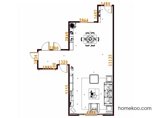 平面布置图贝斯特系列客餐厅G10869