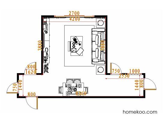 平面布置图德丽卡系列客餐厅G10877