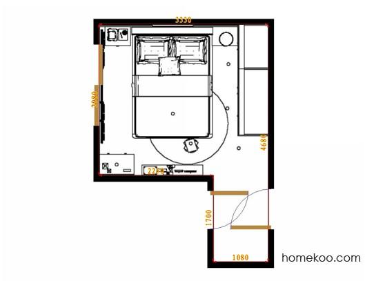 平面布置图格瑞丝系列卧房A11805