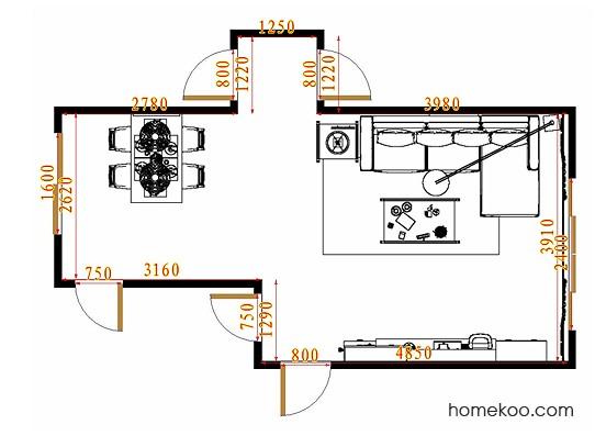 平面布置图乐维斯系列客餐厅G10908