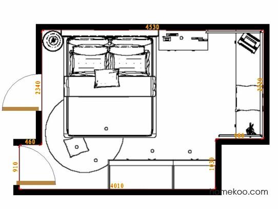 平面布置图乐维斯系列卧房A11847