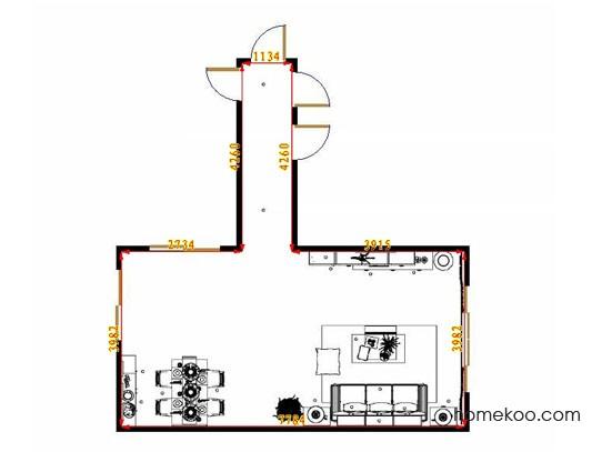 平面布置图斯玛特系列客餐厅G10931