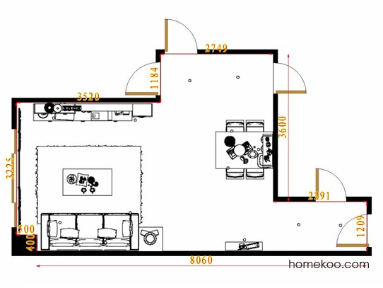 平面布置图柏俪兹系列客餐厅G10942