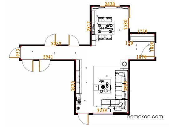 平面布置图格瑞丝系列客餐厅G10944