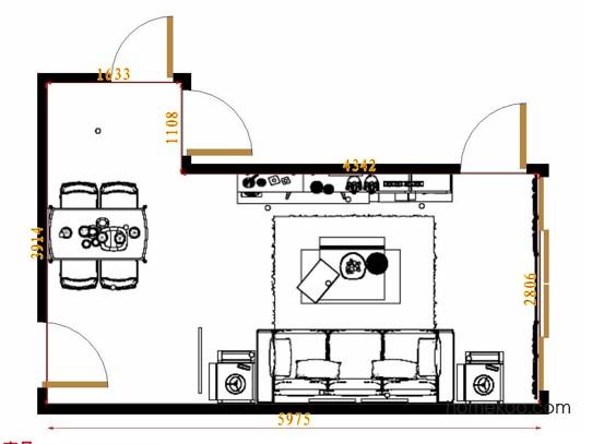 平面布置图格瑞丝系列客餐厅G10970