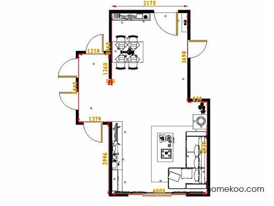平面布置图德丽卡系列客餐厅G10976