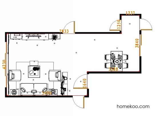 平面布置图乐维斯系列客餐厅G10986