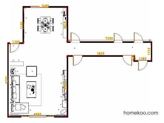 平面布置图德丽卡系列客餐厅G10999