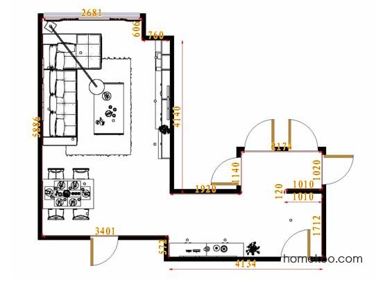 平面布置图柏俪兹系列客餐厅G11028