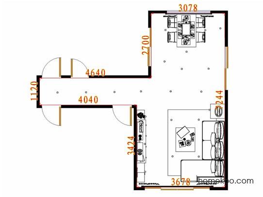平面布置图贝斯特系列客餐厅G11047