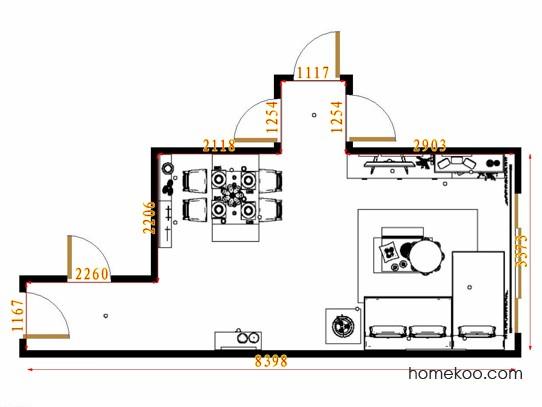 平面布置图斯玛特系列客餐厅G11076