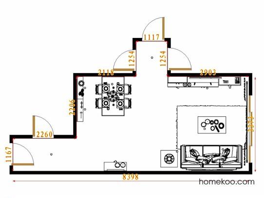 平面布置图德丽卡系列客餐厅G11079
