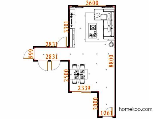 平面布置图斯玛特系列客餐厅G11085