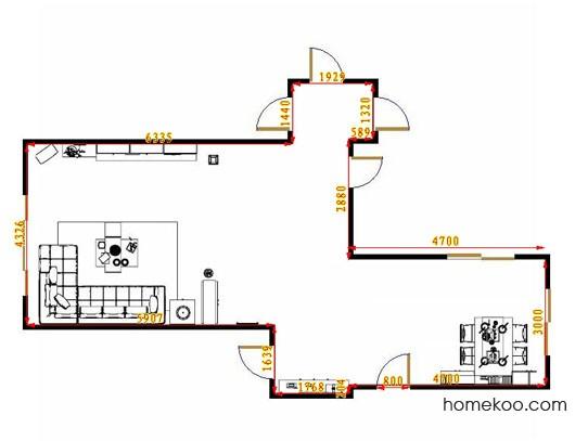 平面布置图斯玛特系列客餐厅G11093