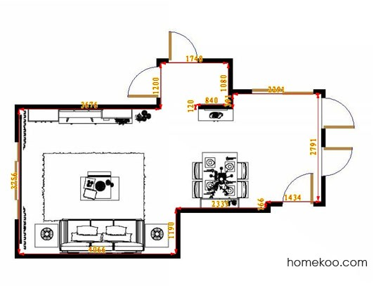 平面布置图贝斯特系列客餐厅G11094