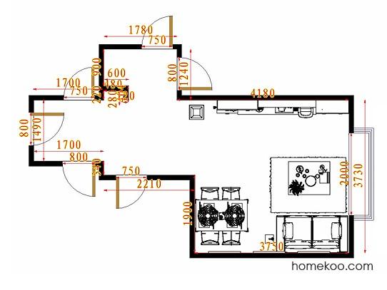 平面布置图斯玛特系列客餐厅G11144