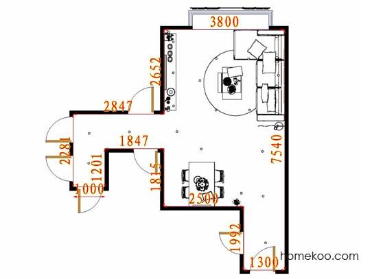 平面布置图乐维斯系列客餐厅G11145