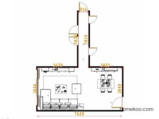 平面布置图格瑞丝系列客餐厅G11153