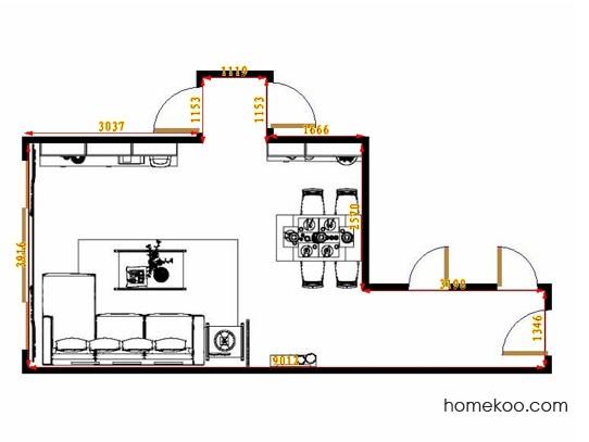 平面布置图德丽卡系列客餐厅G11158