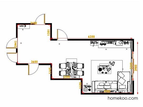 平面布置图斯玛特系列客餐厅G11161
