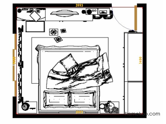 平面布置图柏俪兹系列卧房A12289