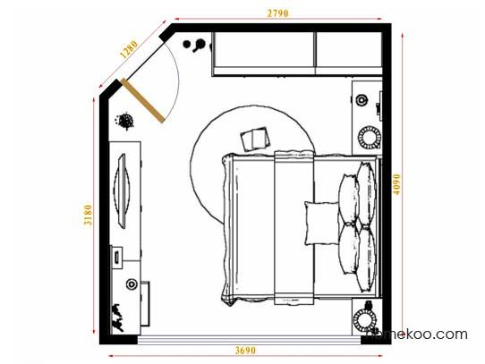 平面布置图斯玛特系列卧房A12296