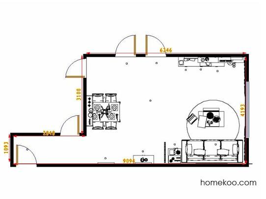 平面布置图柏俪兹系列客餐厅G11195