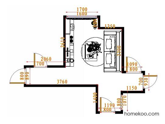 平面布置图贝斯特系列客餐厅G11225