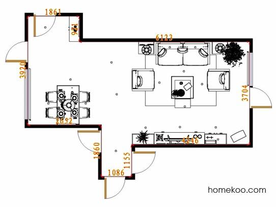 平面布置图斯玛特系列客餐厅G11236